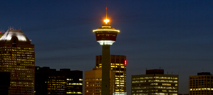 BURNCO Lights The Calgary Tower